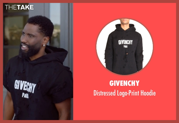 Givenchy black hoodie from Ballers seen with Ricky Jerret (John David Washington)