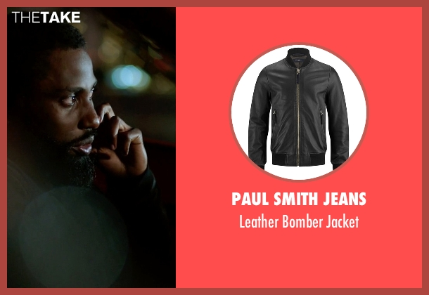 Paul Smith Jeans black jacket from Ballers seen with Ricky Jerret (John David Washington)