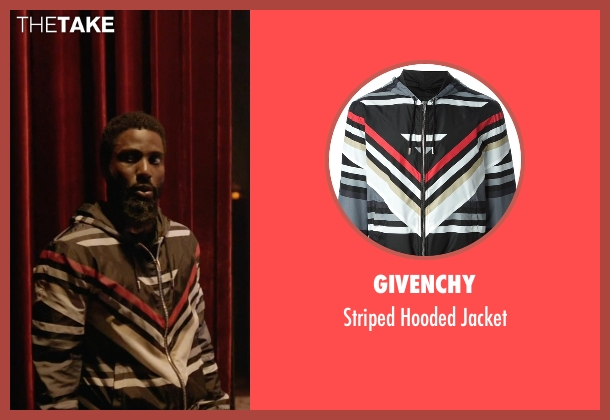 Givenchy black jacket from Ballers seen with Ricky Jerret (John David Washington)