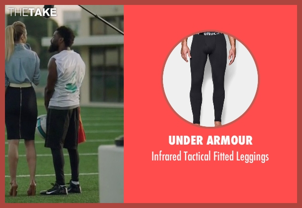 Under Armour black leggings from Ballers seen with Ricky Jerret (John David Washington)