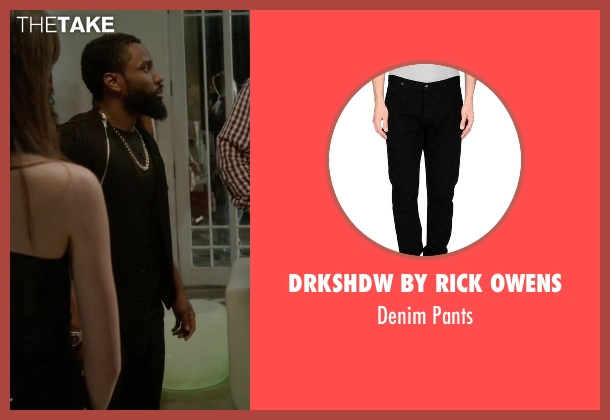 Drkshdw By Rick Owens black pants from Ballers seen with Ricky Jerret (John David Washington)