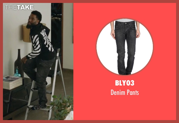 Bly03 black pants from Ballers seen with Ricky Jerret (John David Washington)