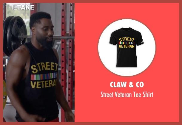 Claw & Co black shirt from Ballers seen with Ricky Jerret (John David Washington)