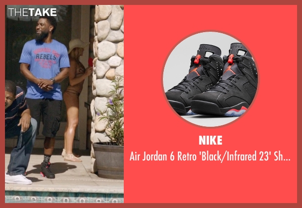 Nike black shoes from Ballers seen with Ricky Jerret (John David Washington)