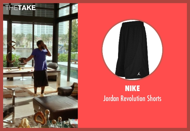 Nike black shorts from Ballers seen with Ricky Jerret (John David Washington)