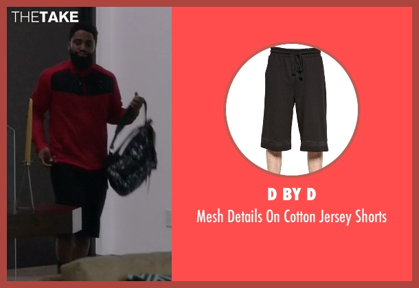 D By D black shorts from Ballers seen with Ricky Jerret (John David Washington)