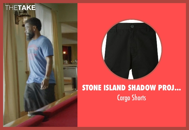 Stone Island Shadow Project black shorts from Ballers seen with Ricky Jerret (John David Washington)