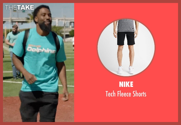 Nike black shorts from Ballers seen with Ricky Jerret (John David Washington)