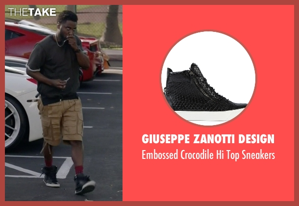 Giuseppe Zanotti Design black sneakers from Ballers seen with Ricky Jerret (John David Washington)
