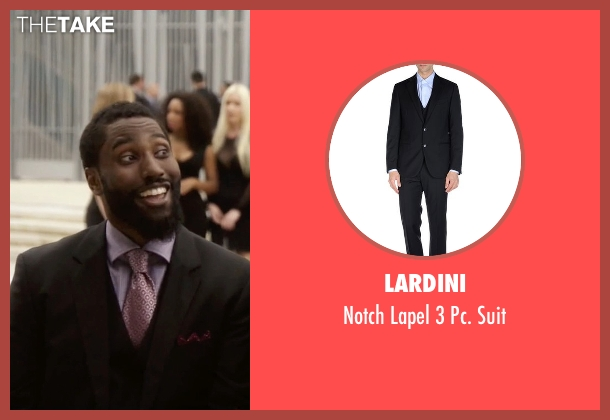 Lardini black suit from Ballers seen with Ricky Jerret (John David Washington)