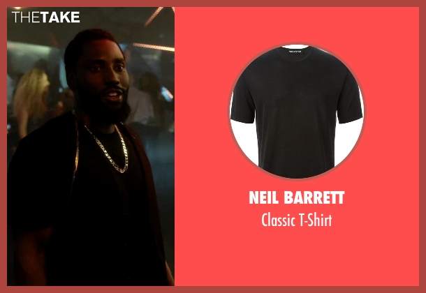 Neil Barrett black t-shirt from Ballers seen with Ricky Jerret (John David Washington)