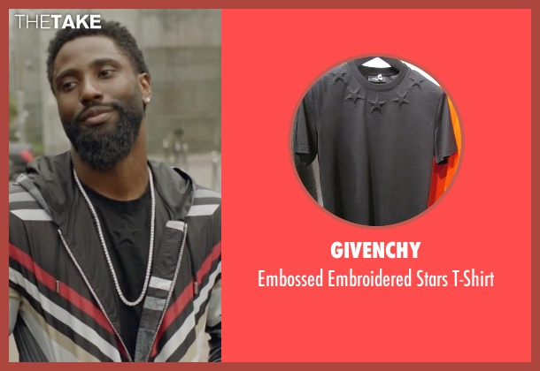 Givenchy black t-shirt from Ballers seen with Ricky Jerret (John David Washington)