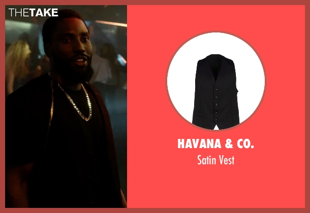 Havana & Co. black vest from Ballers seen with Ricky Jerret (John David Washington)