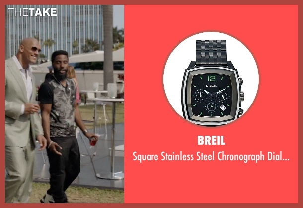 Breil black watch from Ballers seen with Ricky Jerret (John David Washington)
