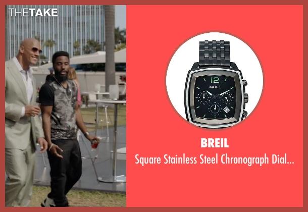 Breil black watch from Ballers seen with Ricky Jerret (John David Washington)