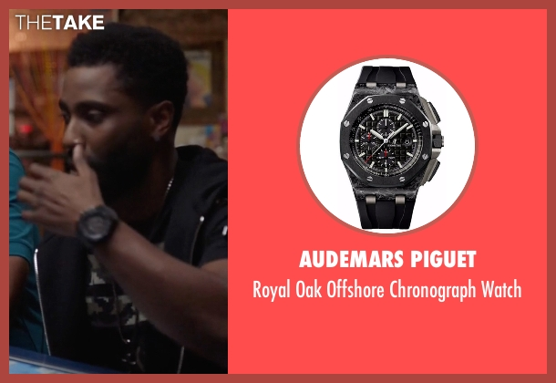 Audemars Piguet black watch from Ballers seen with Ricky Jerret (John David Washington)