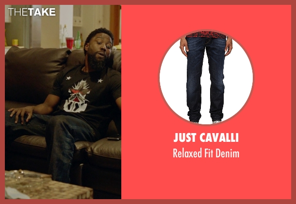 Just Cavalli blue denim from Ballers seen with Ricky Jerret (John David Washington)