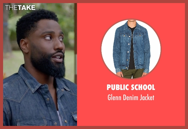 Citizens of Humanity blue jacket from Ballers seen with Ricky Jerret (John David Washington)