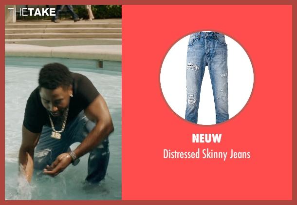 Neuw blue jeans from Ballers seen with Ricky Jerret (John David Washington)