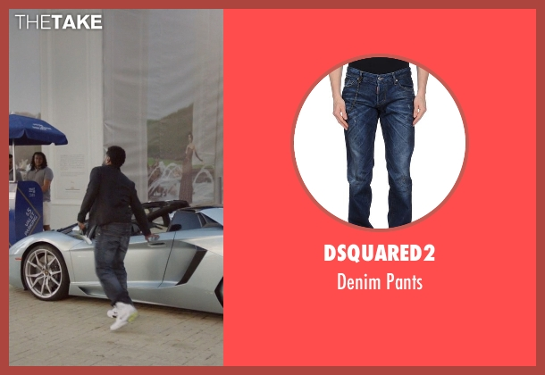 DSquared2 blue pants from Ballers seen with Ricky Jerret (John David Washington)
