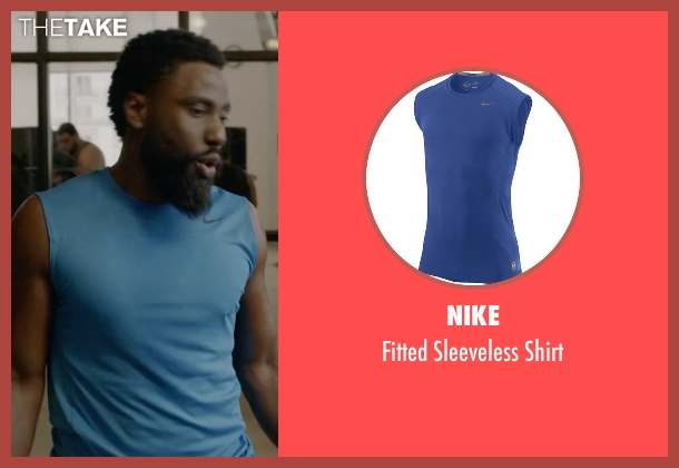 Nike blue shirt from Ballers seen with Ricky Jerret (John David Washington)