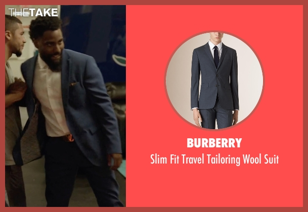 Burberry blue suit from Ballers seen with Ricky Jerret (John David Washington)