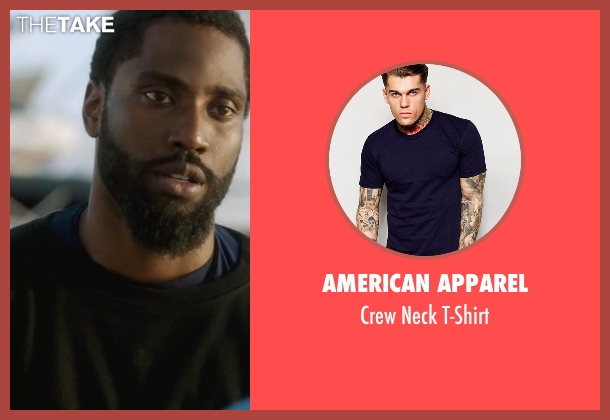 American Apparel blue t-shirt from Ballers seen with Ricky Jerret (John David Washington)