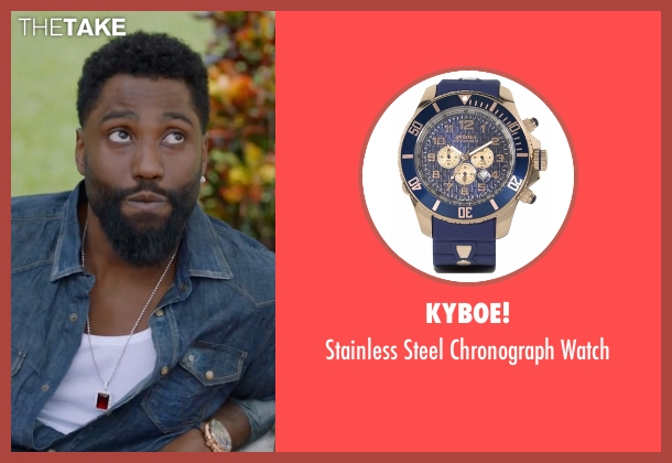 Kyboe blue watch from Ballers seen with Ricky Jerret (John David Washington)