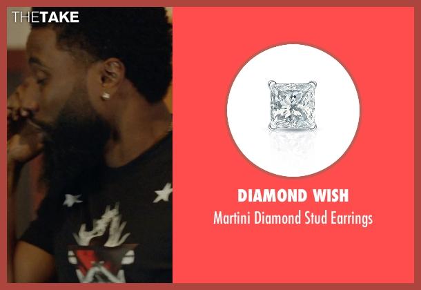 Diamond Wish earrings from Ballers seen with Ricky Jerret (John David Washington)