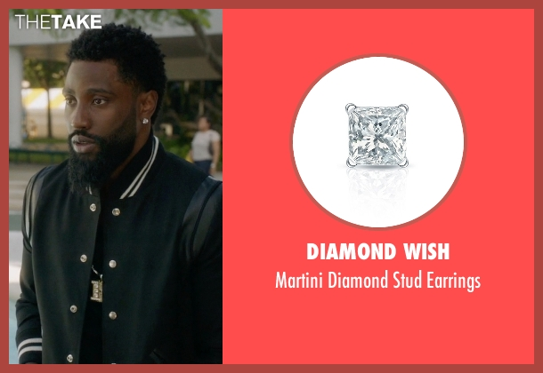 Diamond Wish earrings from Ballers seen with Ricky Jerret (John David Washington)