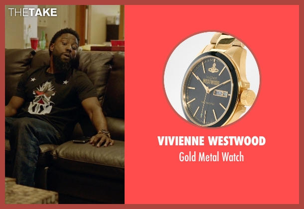 Vivienne Westwood gold watch from Ballers seen with Ricky Jerret (John David Washington)