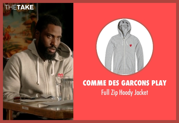 Comme Des Garcons Play gray jacket from Ballers seen with Ricky Jerret (John David Washington)