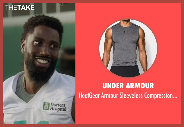 Under Armour gray shirt from Ballers seen with Ricky Jerret (John David Washington)