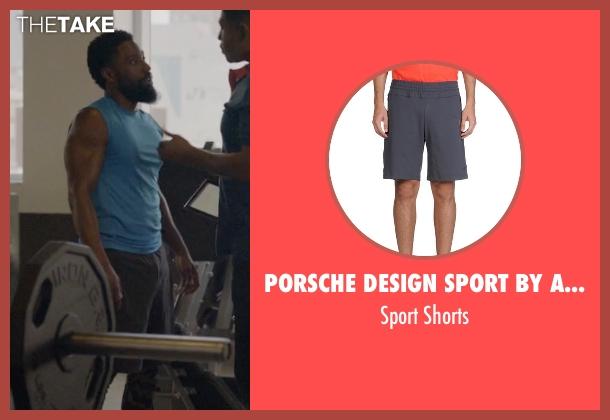 Porsche Design Sport By Adidas gray shorts from Ballers seen with Ricky Jerret (John David Washington)