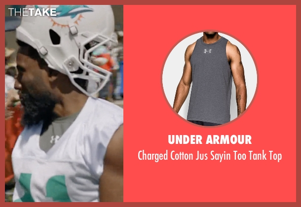 Under Armour gray top from Ballers seen with Ricky Jerret (John David Washington)