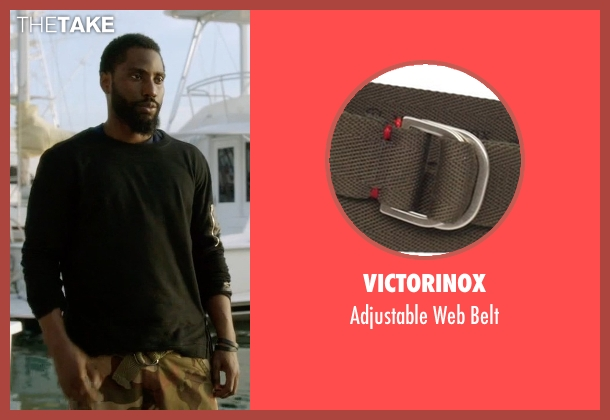 Victorinox green belt from Ballers seen with Ricky Jerret (John David Washington)
