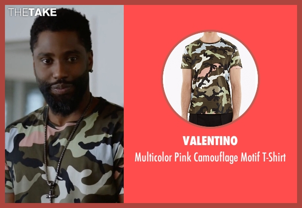 Valentino green t-shirt from Ballers seen with Ricky Jerret (John David Washington)