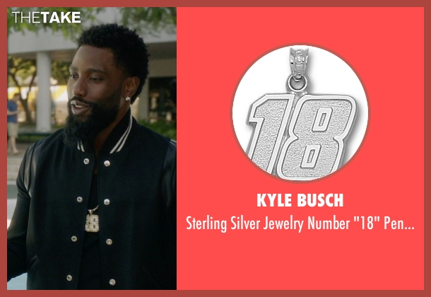 Kyle Busch pendant from Ballers seen with Ricky Jerret (John David Washington)