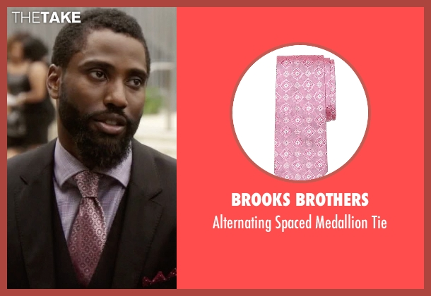 Brooks Brothers pink tie from Ballers seen with Ricky Jerret (John David Washington)
