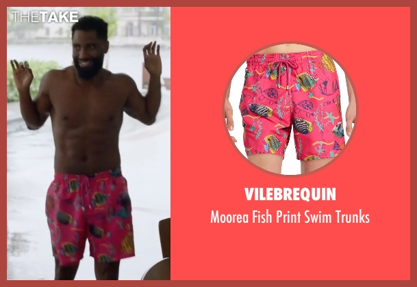 Vilebrequin pink trunks from Ballers seen with Ricky Jerret (John David Washington)