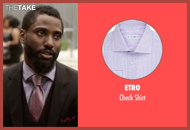 Etro purple shirt from Ballers seen with Ricky Jerret (John David Washington)