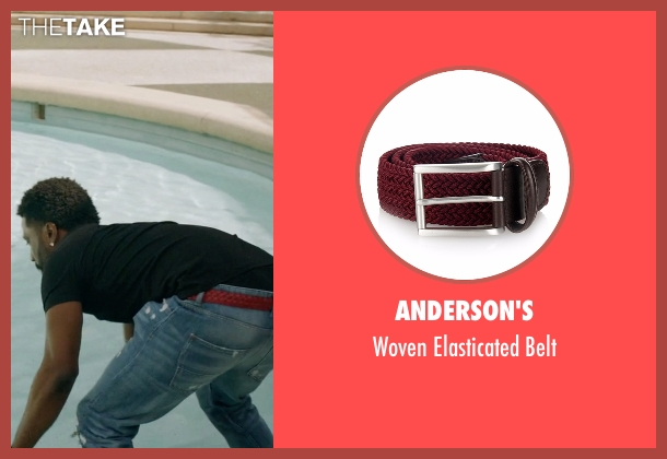 Anderson's red belt from Ballers seen with Ricky Jerret (John David Washington)