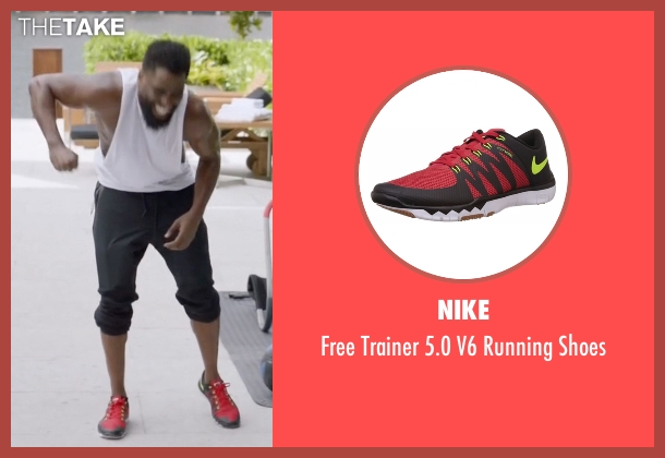 Nike red shoes from Ballers seen with Ricky Jerret (John David Washington)