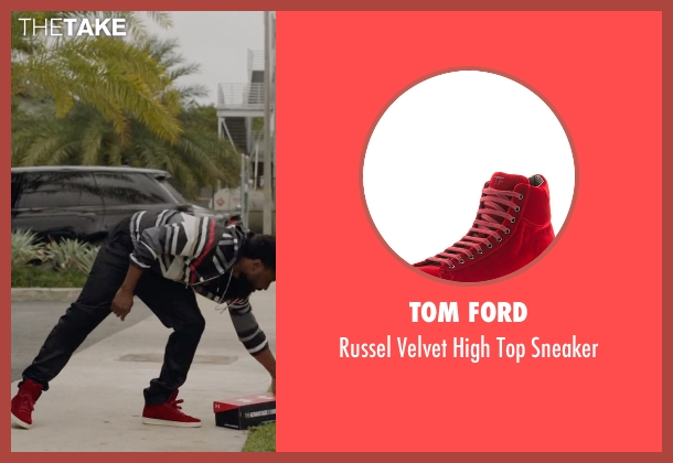 Tom Ford red sneaker from Ballers seen with Ricky Jerret (John David Washington)