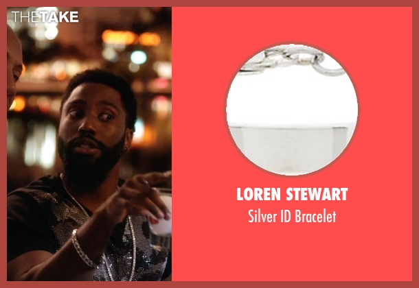 Loren Stewart silver bracelet from Ballers seen with Ricky Jerret (John David Washington)