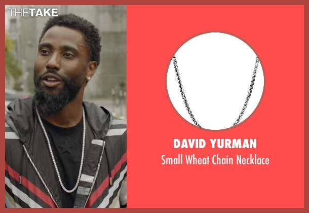 David Yurman silver necklace from Ballers seen with Ricky Jerret (John David Washington)
