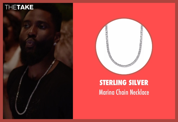 Sterling Silver silver necklace from Ballers seen with Ricky Jerret (John David Washington)