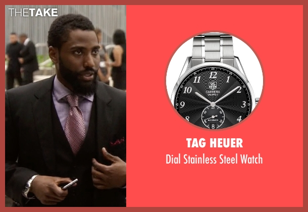 Tag Heuer silver watch from Ballers seen with Ricky Jerret (John David Washington)