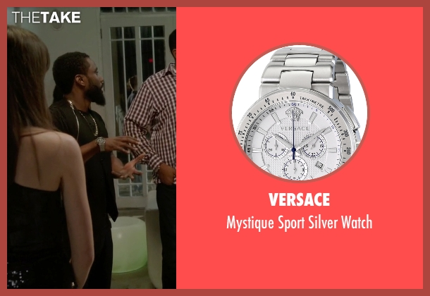 Versace silver watch from Ballers seen with Ricky Jerret (John David Washington)