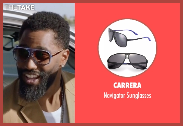 Carrera sunglasses from Ballers seen with Ricky Jerret (John David Washington)